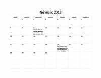 Calendario di base 2013 (L-D)