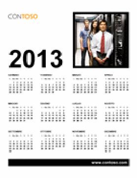 Calendario per ufficio 2013 (L-D)