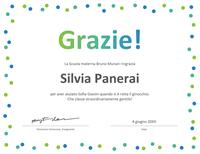 Certificato di ringraziamento scuole elementari