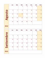 Calendario accademico 2012-2013
