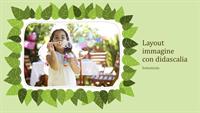 Album fotografico di famiglia (schema natura con foglie verdi)