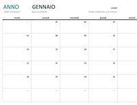 Calendario di un mese per qualsiasi anno