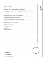 Pagina copertina fax (struttura Loggia)
