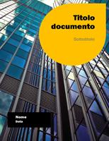 Report (struttura Tramonto)