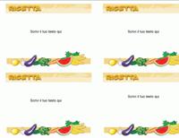 Ricette (4 per foglio)