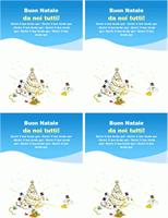 """Biglietti d'auguri """"Natale"""" (2 per foglio)"""
