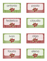 Segnaposto natalizi (supportano Avery 8371, 8376, 8377 e 8811)