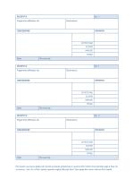 Ricevute con numerazione automatica (3 per pagina)