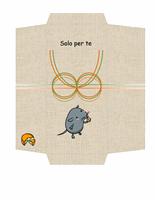 Busta per buono regalo/soldi (tema topolino e formaggio)