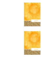 Biglietto di ringraziamento (schema Sole e sabbia)
