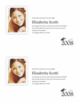 Annuncio Laurea con foto (mezza pagina)