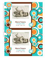Biglietti annuncio nascita con foto (tema cerchi)
