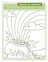 Pagina da colorare di San Patrizio (pentola di monete)
