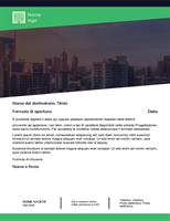 Lettera commerciale (design foresta verde)