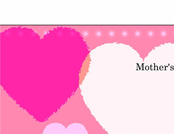 母の日用サンキューレター(女の子)