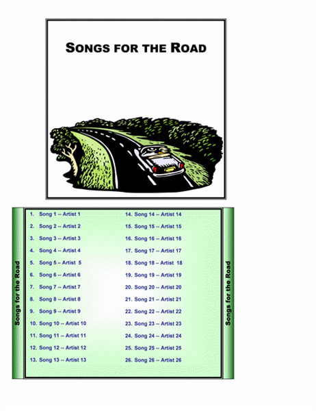ドライブ用音楽 CD ジャケット レーベル