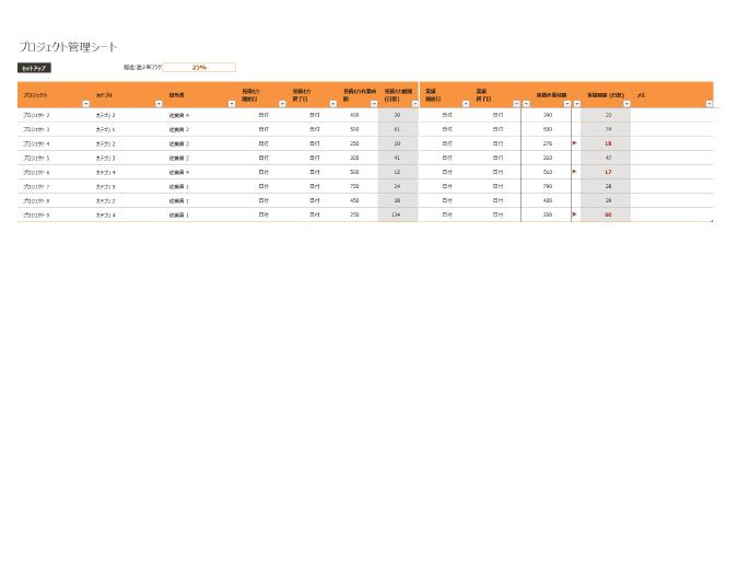 プロジェクト管理シート
