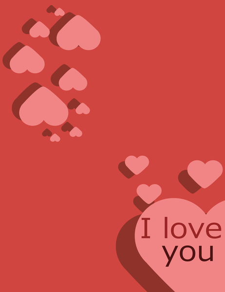 I Love You カード (4 つ折り)