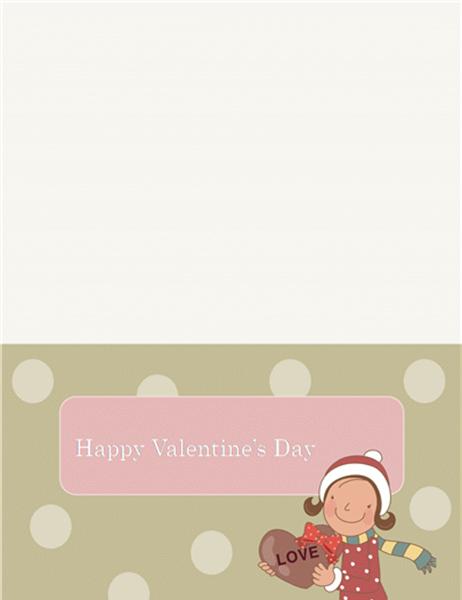 バレンタイン カード (はがきサイズ 1)