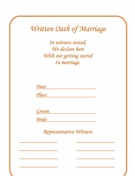 結婚証明書 (フラワー)