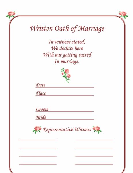 結婚証明書 (ローズ)