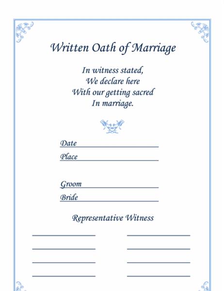 結婚証明書 (チューリップ)