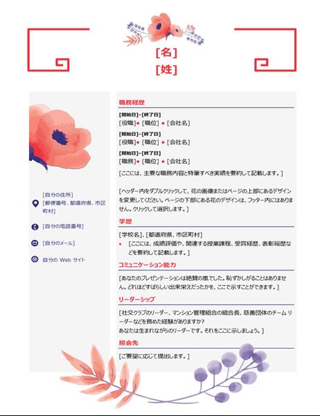 ピンクの花の履歴書
