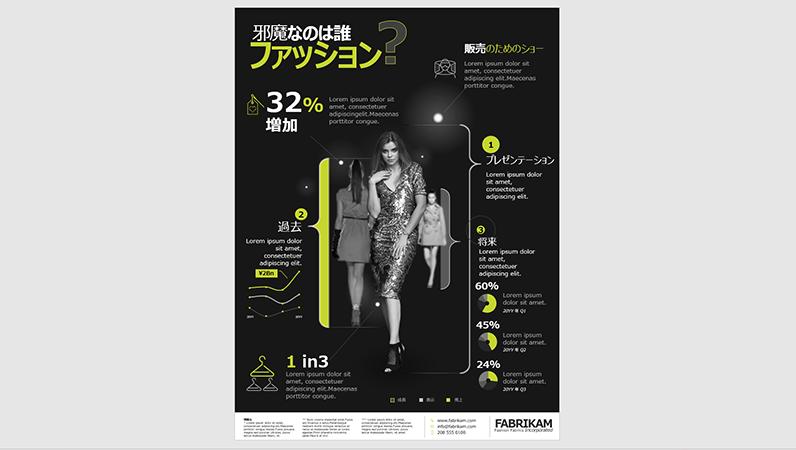 ファッションのインフォグラフィック ポスター