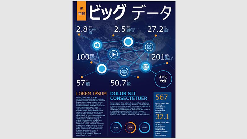 テクノロジのインフォグラフィック ポスター