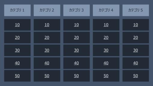 クイズ ショー ゲーム (背景 Q & A、ワイド画面)