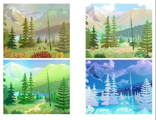 自然の風景のポストカード