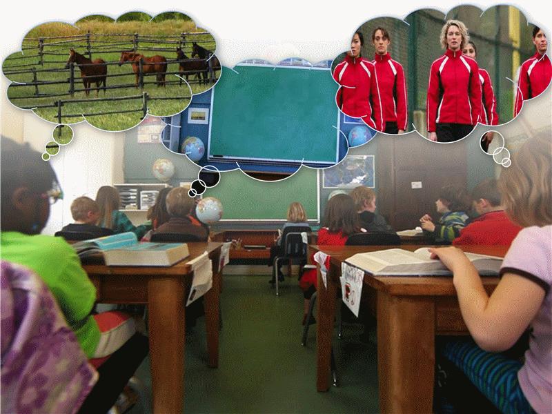 教室での白昼夢 (ビデオ付き)