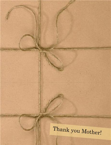 母の日用サンキューカード(男性用)