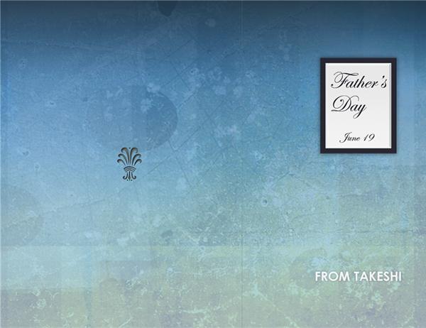 父の日用サンキューカード(男性用)
