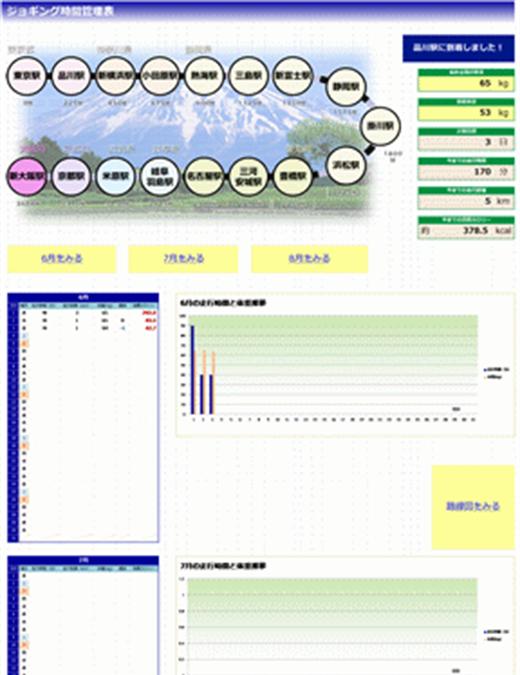 ジョギング管理表