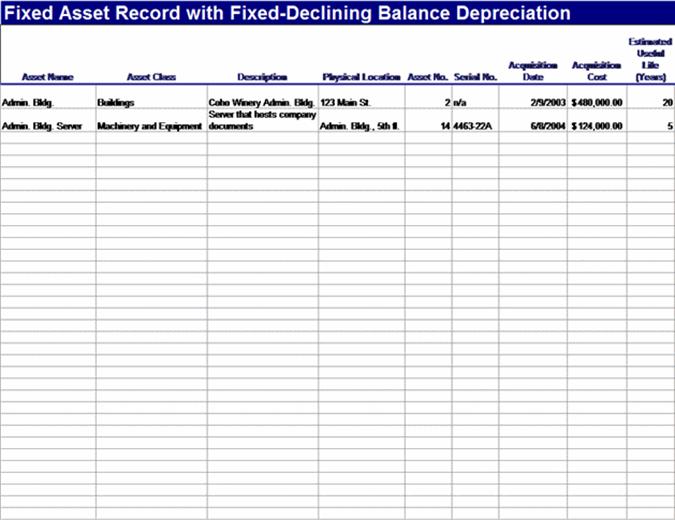 固定資産の減価償却 (定率)