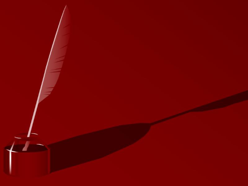 羽根ペンのデザイン テンプレート
