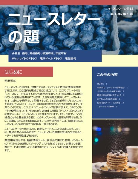 ビジネス ニュースレター (2 列、6 ページ、メーラー)