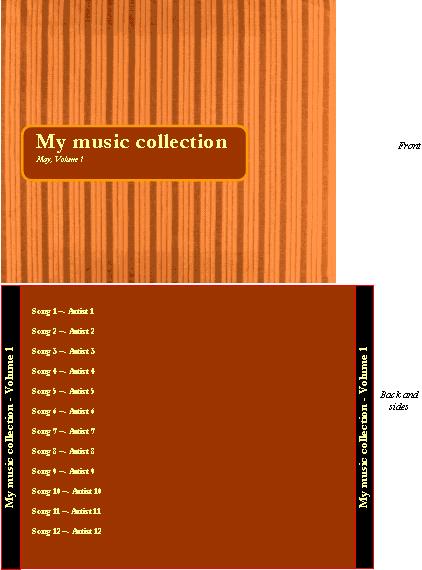 CD ジャケット レーベル