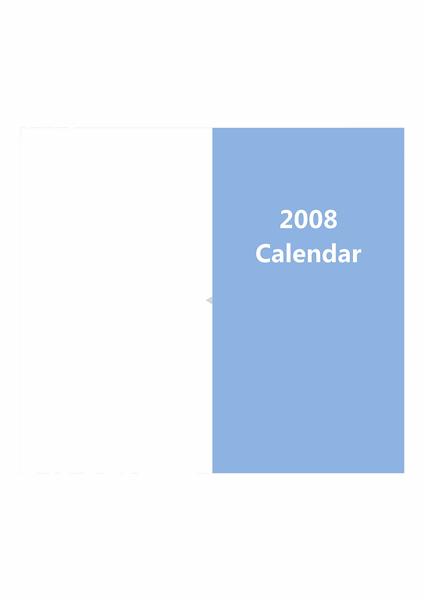 2008 年カレンダー システム手帳リフィル (ミニカレンダー付き) 両面印刷用