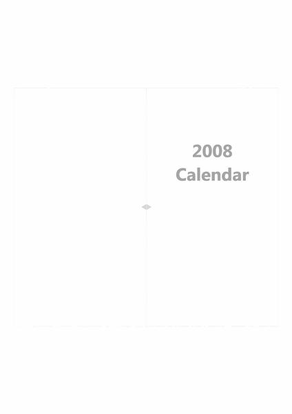 2008 年カレンダー システム手帳リフィル モノクロ両面印刷用