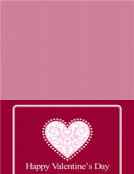 バレンタイン カード (はがきサイズ 4)