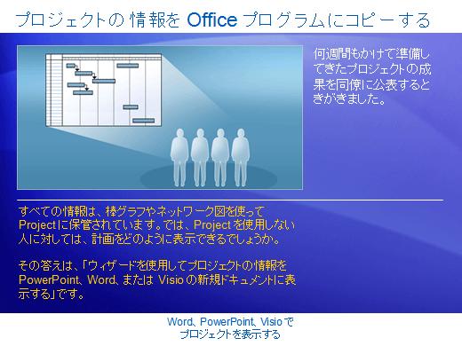 トレーニング プレゼンテーション: Project 2007—Word、PowerPoint、Visio でプロジェクトを表示する