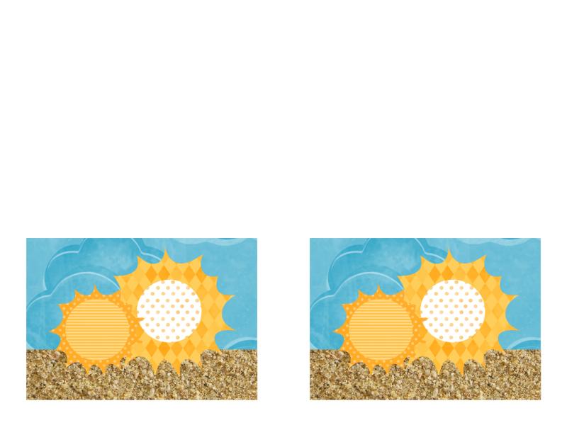 招待状 (太陽と砂のデザイン)