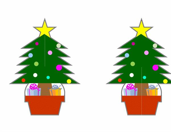 クリスマス ツリー (オーナメント付)