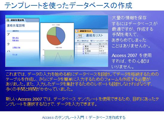 トレーニング プレゼンテーション: Access 2007 - Access のテンプレート入門 I: データベースを作成する