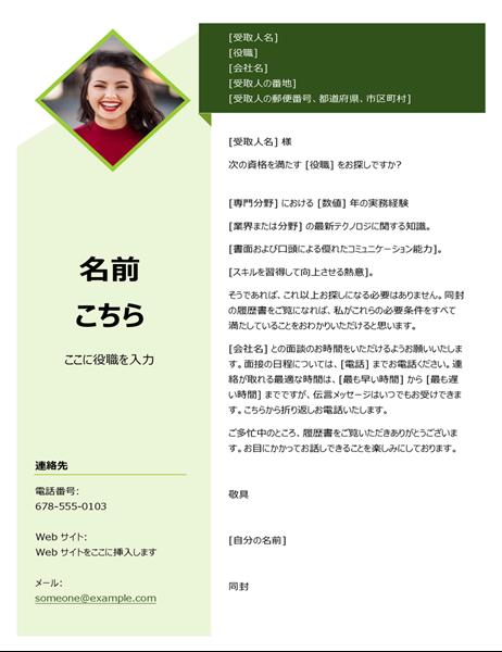 緑のキューブの添え状