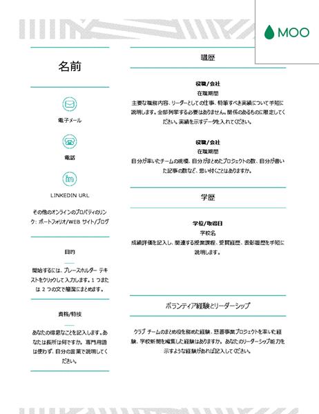 クリエイティブな履歴書 (デザイン協力: MOO 社)
