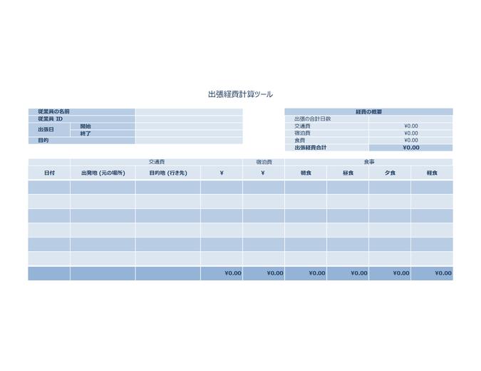 出張経費の記録