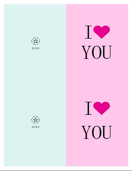 I ♡ YOU バレンタイン カード